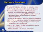 barriers to broadband