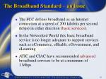 the broadband standard an issue