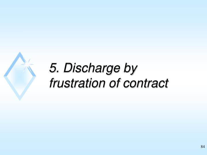 5. Discharge by frustration of contract