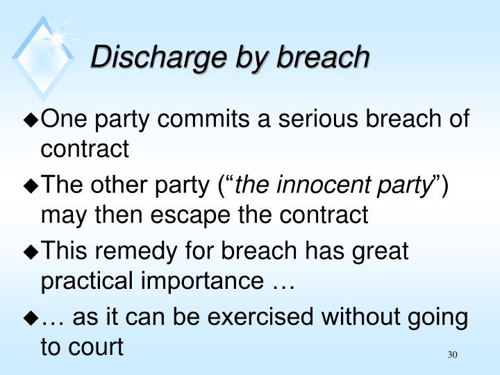 One party commits a serious breach of contract