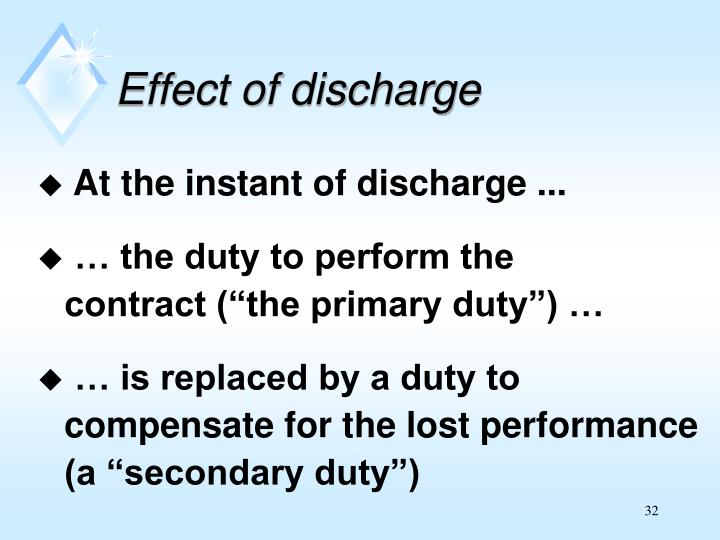 Effect of discharge