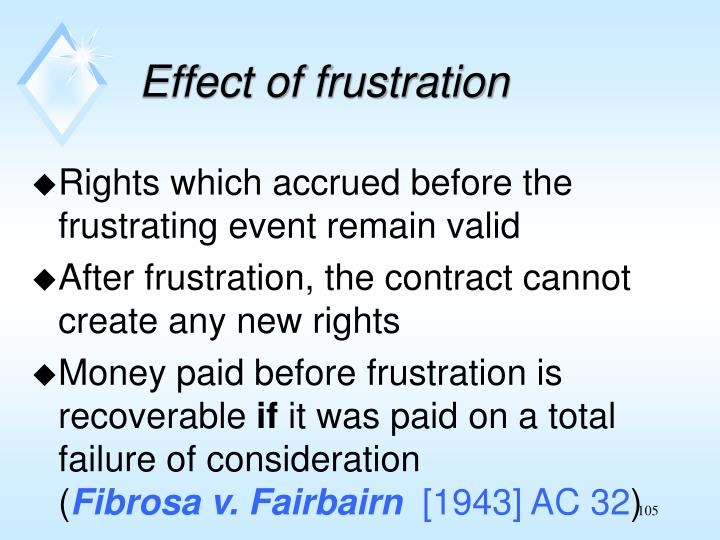 Effect of frustration