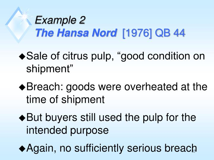 """Sale of citrus pulp, """"good condition on shipment"""""""