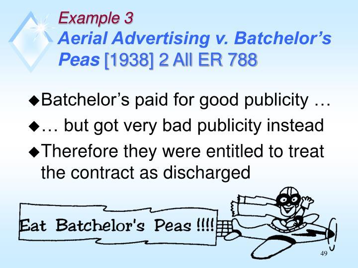 Batchelor's paid for good publicity …
