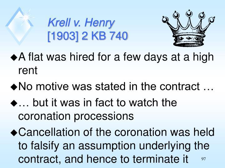 Krell v. Henry