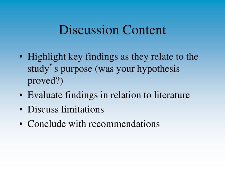 Discussion Content