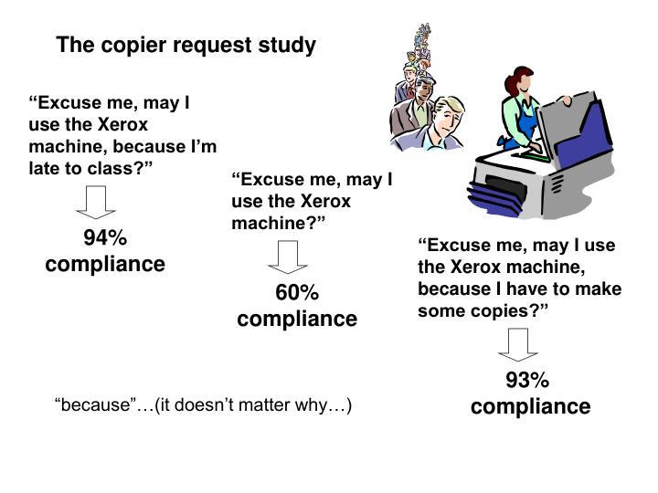 The copier request study