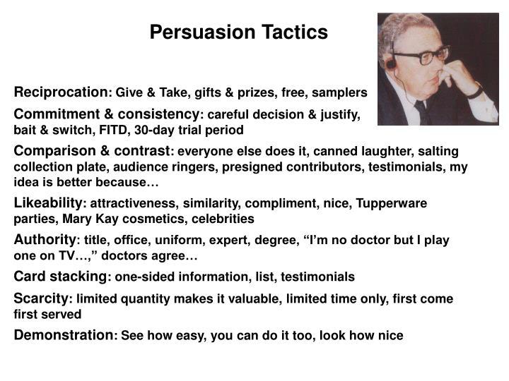 Persuasion Tactics