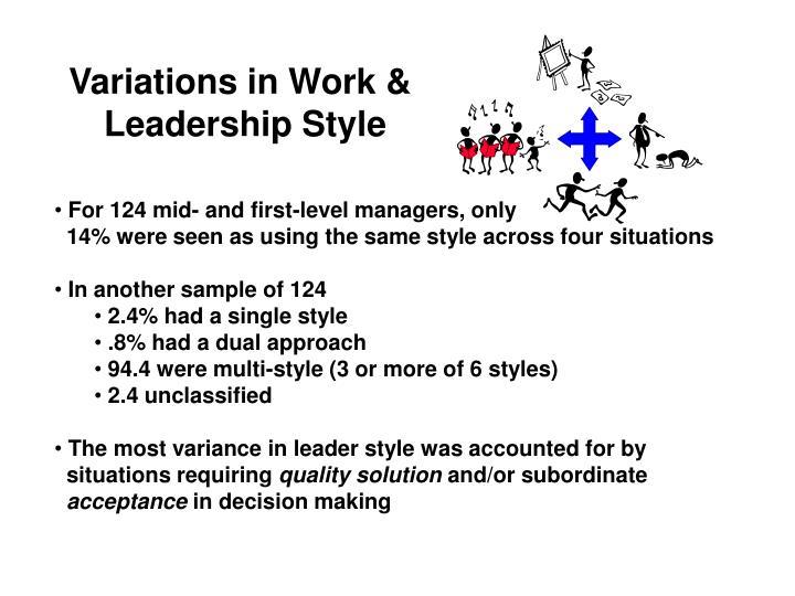 Variations in Work &