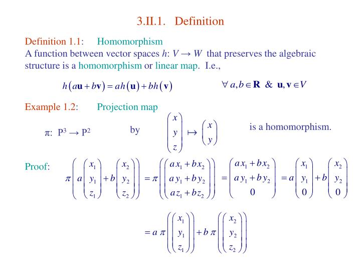 3 ii 1 definition