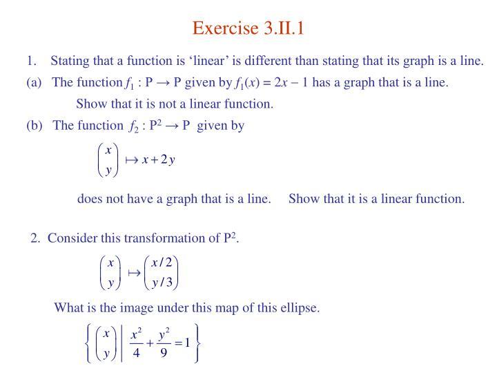 Exercise 3.II.1