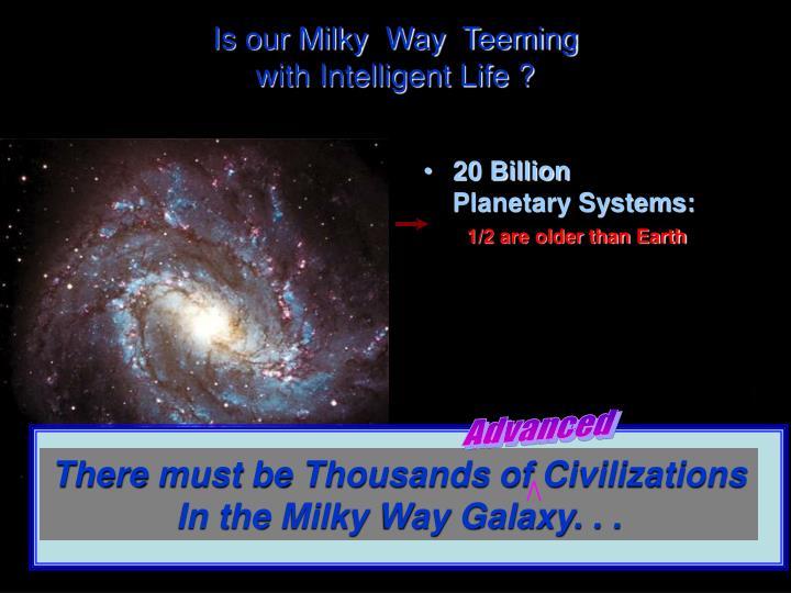 Is our Milky  Way  Teeming