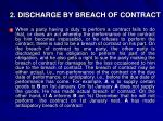 2 discharge by breach of contract