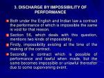 3 discharge by impossibility of performance