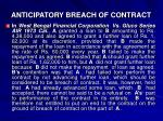 anticipatory breach of contract1