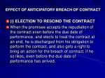 effect of anticipatory breach of contract1