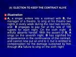 ii election to keep the contract alive1