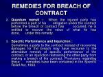remedies for breach of contract2