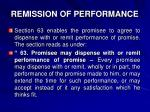 remission of performance