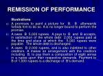 remission of performance1