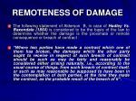 remoteness of damage