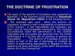 the doctrine of frustration1