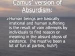 camus version of absurdism