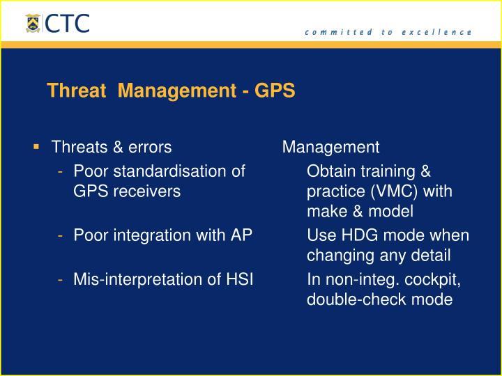 Threat  Management - GPS