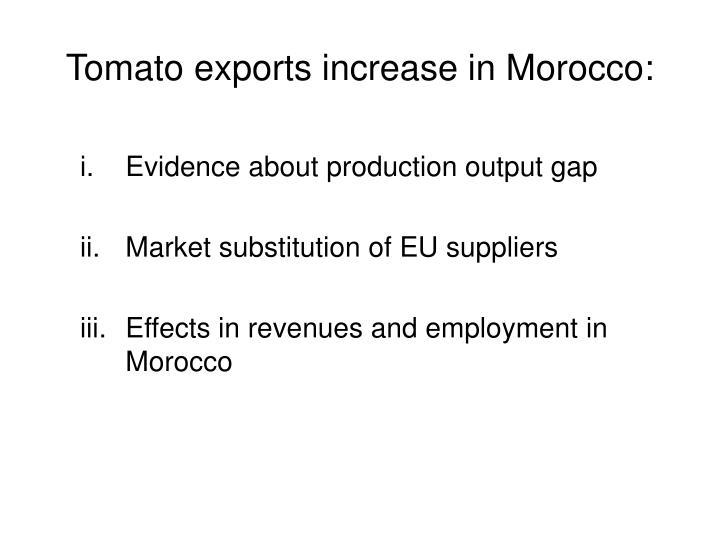 Tomato exports increase in Morocco: