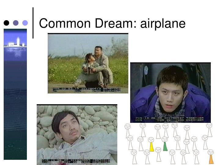 Common Dream: airplane
