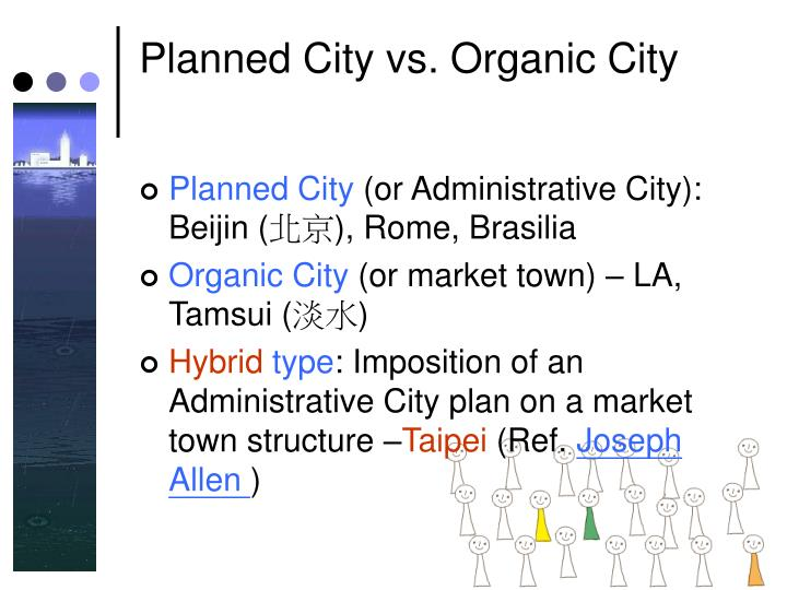 Planned City vs. Organic City