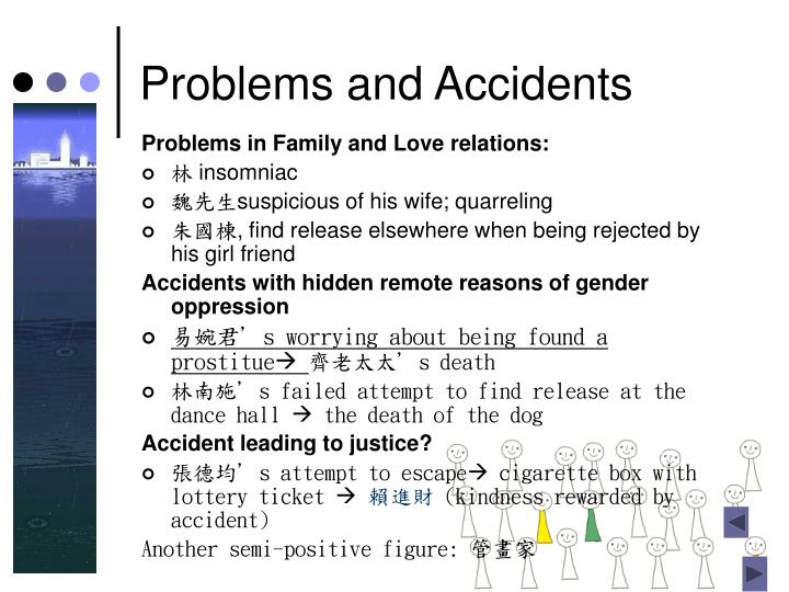 Problems and Accidents
