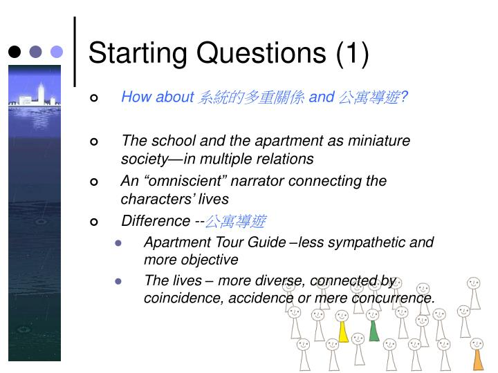 Starting Questions (1)