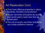 art restoration cont
