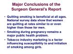 major conclusions of the surgeon general s report2
