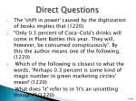 direct questions