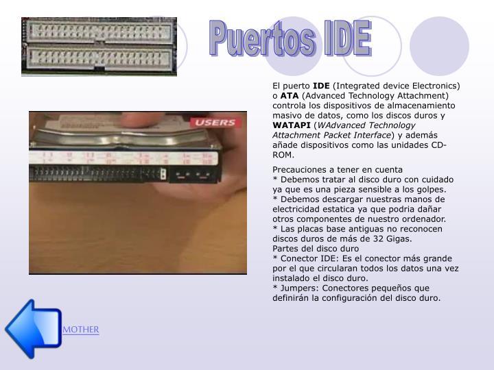 Puertos IDE