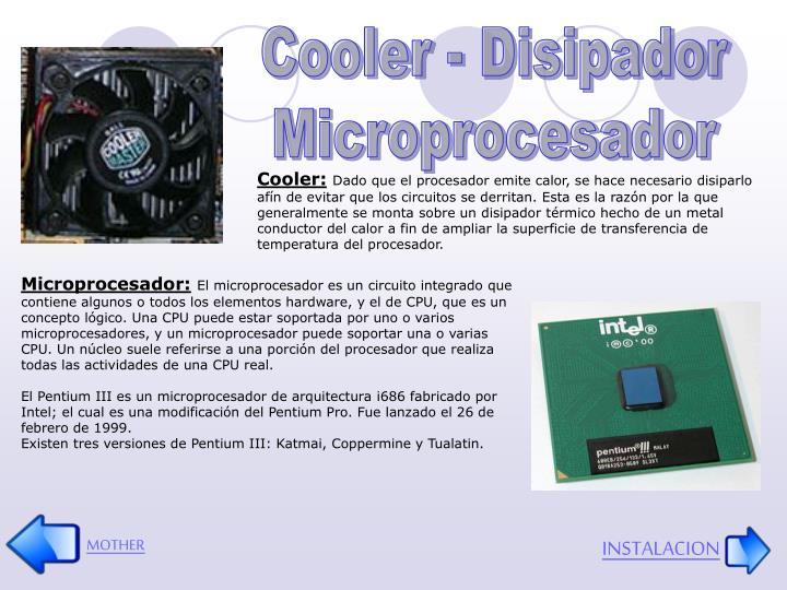 Cooler - Disipador