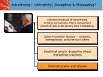 advertising untruthful deceptive misleading