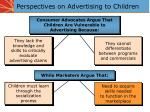 perspectives on advertising to children