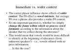 immediate vs wider context