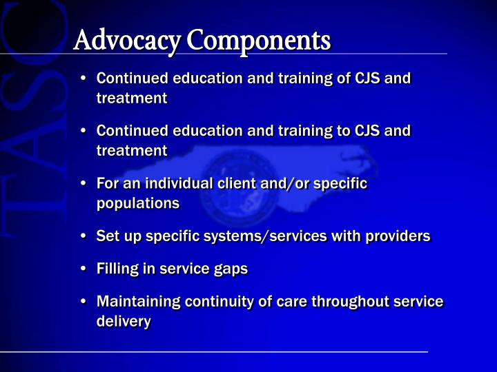 Advocacy Components