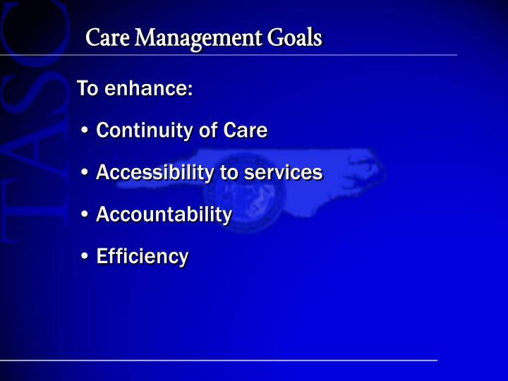 Care management goals