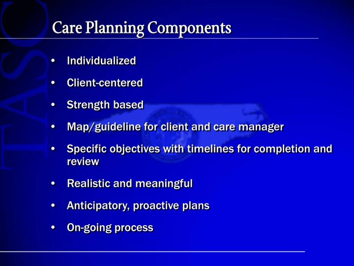 Care Planning Components