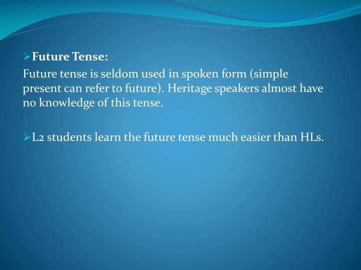 Future Tense: