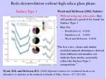 redo deconvolution without high silica glass phase