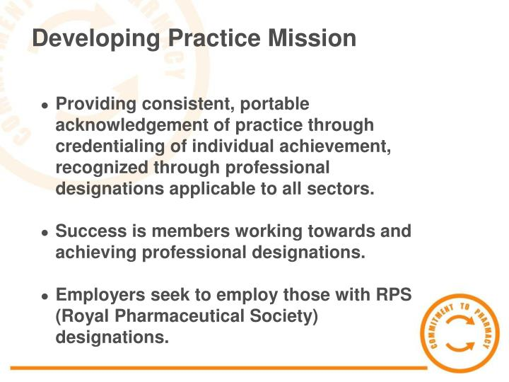 Developing Practice Mission