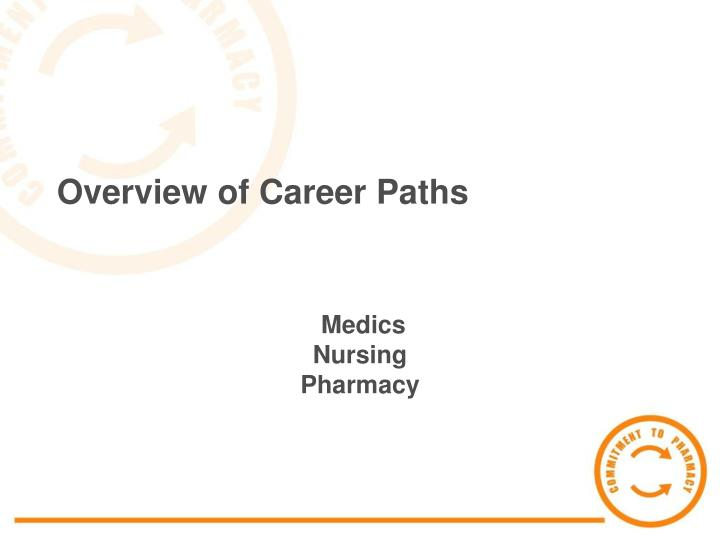 Overview of career paths