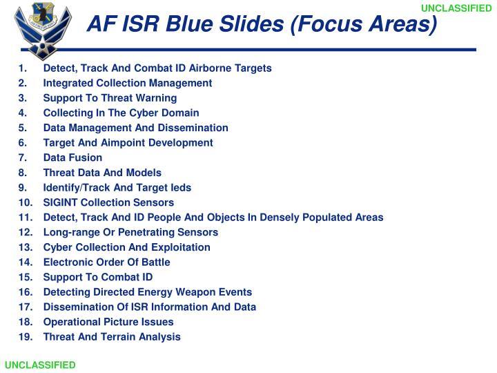AF ISR Blue Slides (Focus Areas)