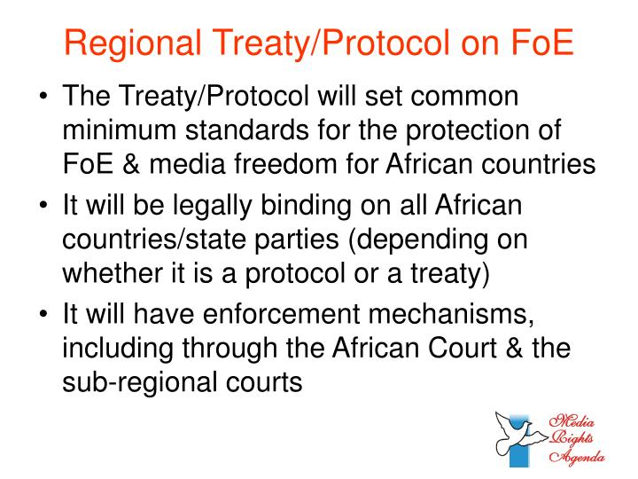 Regional Treaty/Protocol on FoE